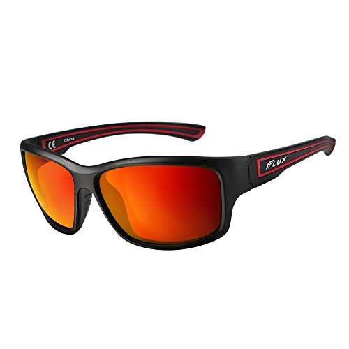 Flux+Polarized+Sports+Sunglasses+with+Anti-Slip+Function+and+Light+Frame+-+for+Men+and+Women+when+Driving%2C+Running%2C+Baseball%2C+Golf%2C+Casual+Sports+and+Activities%3A+PT005