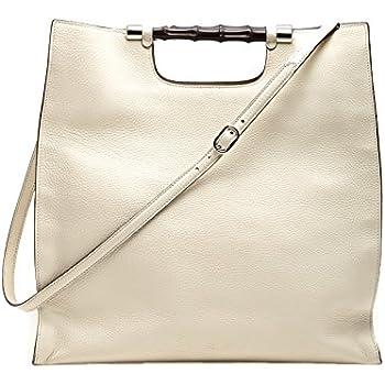 10da27f7c279 Amazon.com: Gucci Bamboo Daily Leather Tote Handbag 370828 9022 (Off ...
