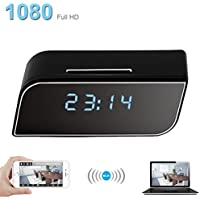 Pelay WiFi Hidden Camera Alarm Clock HD 1080P Spy Security Camera Motion Detection Alerts Night Version Wireless Real Time Monitor by Nanny Cam