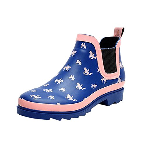 Waterproof Womens Rain Printed slip Ankle Ladies Shoes Non Water Meijunter Short Boots Boots TSq4Zn6