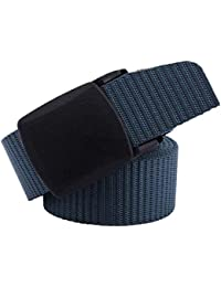 """Nylon Belts for Women,1.2"""" Width Tactical Military Style Outdoor Belt Plastic Buckle"""