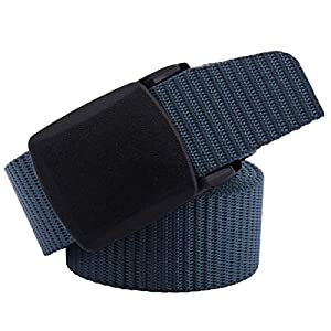 moonsix Nylon Belts for Women Men,1.2″ Width Tactical Military Style Outdoor Belt Plastic Buckle