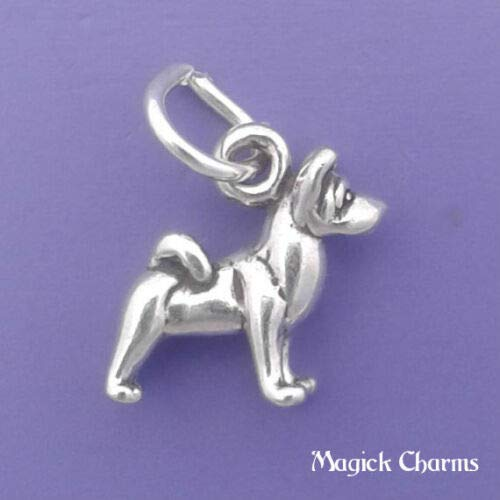 Sterling Silver Akita Dog Charm 3-D Miniature DIY Jewelry Making Supply for Charm Pendant Bracelet by Charm Crazy ()