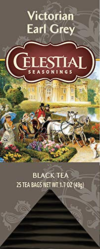 Celestial Seasonings Black Tea Honey - Celestial Seasonings Black Tea, Victorian Earl Grey Tea, 25 Count Box