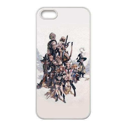 Final Fantasy Xiv 3 coque iPhone 5 5S Housse Blanc téléphone portable couverture de cas coque EOKXLLNCD10390