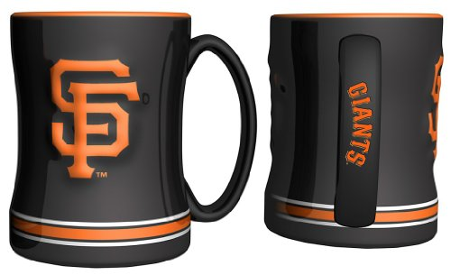 San Francisco Giants Black 14oz. Ceramic Relief Mug