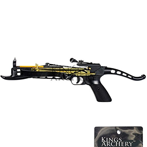 KingsArchery Crossbow Self-Cocking 80 LBS with Adjustable Sights, 3 Aluminium Arrow Bolts, and Bonus 60-Pack of Colored PVC Arrow Bolts Warranty