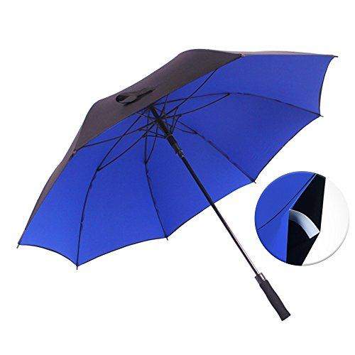 Haomax Auto Open Golf Umbrella,50/60 Inch Windproof Oversize,Double Canopy Sturdy For Man and Woman (Blue, 50)