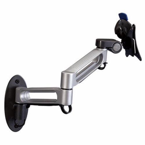 Balt 66582 Dual Arm Wall Mount, Steel/Plastic, 17 x 15 x 7, Gray/Black
