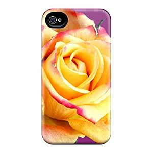 4/4s Scratch-proof Protection Case Cover For Iphone/ Hot Shaded Rose Phone Case