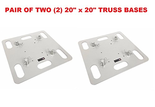 Pair  2  Two Base Plates 20  X 20  Square Lighting Truss Fits Global Truss
