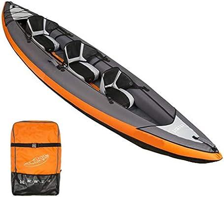 AA-PHUJ DMUC Kayak Yukon Inflable, Canoa Canadiense para 3 ...
