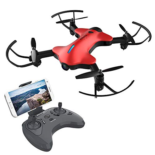 2019 Upgraded Portable Foldable Drone with Camera for Adults/Beginners,720P HD Wide-Angle Lens,Real-time Live Video,RC Quadcopter with 3D Flips and a Variety of Functions,Super Easy to Flying Drone is