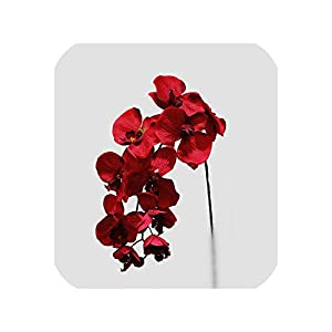 loveinfinite 10Heads Big Artificial Orchid Flowers European Retro Style Moth Butterfly Orchids Home Wedding Party Decoration Fake Silk Flores,G 21