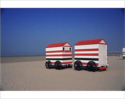 Photographic Print of Beach huts, Blankenberge, Belgium, - Huts Europe Beach