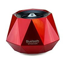 """LB1 High Performance New Wireless Bluetooth Mini Speaker for Lenovo G505 AMD A6-5200 15.6"""" Screen Display Notebook With 4GB Memory 500GB Hard Drive Windows 8 Diamond Bluetooth Speaker with Built-in Microphone for Hands-Free Phone Call (Red)"""