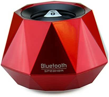 LB1 High Performance New Wireless Bluetooth Mini Speaker for Nokia 808 PureView Diamond Bluetooth Speaker with Built-in Microphone for Hands-Free Phone Call (Red)