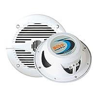 Altavoces marinos   BOSS Audio MR50W 150 vatios (por par), rango completo de 5,25 pulgadas, 2 vías, resistente a la intemperie (vendido en pares)