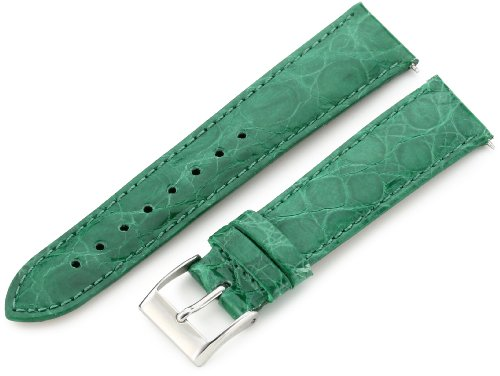 Artisan of Italy CITQR100-2118LR Women's Fashion Quick-Release Padded Crocodile 18mm Emerald Watch (Emerald Mens Watch)