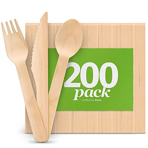 Disposable Wooden Cutlery Set - ...