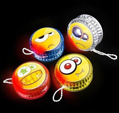 Emoji Gift Bag Fillers Light Up Yo-Yos Set of 4