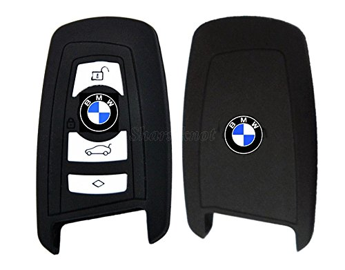 Custodia per chiavi in silicone di alta qualità Smart 2/3/4per BMW (di colore nero) PROTEX