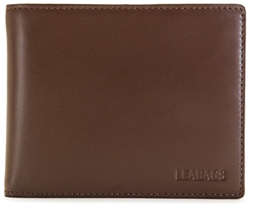 LEABAGS Columbia genuine calfskin leather wallet in vintage style - Brown
