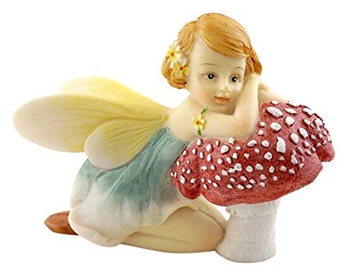 Collection Mushroom (Top Collection Miniature Garden and Terrarium Flower Fairy Resting on Mushroom Figurine)