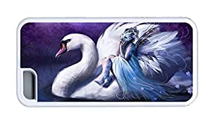 Cute iphone uncommon case The girl who sat in the White Swan TPU White for Apple iPhone 5C
