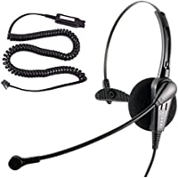 Avaya 1408 1416 2410 2420 4424 4606 4610 4612 4620 Economic Noise Cancel Call Center Phone Headset with HIC Quick Disconnect Cord