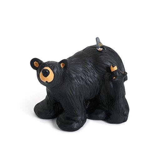 (DEMDACO Hello Chickadee Black Bear 3.5 x 4 Hand-cast Resin Figurine Sculpture )