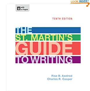 The St. Martin's Guide to Writing (Hardcover)