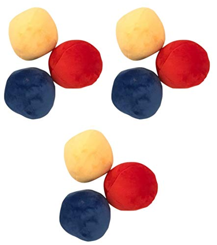 9 Pack BIG Plush Soft Squeaky Balls for LARGE Dogs ()