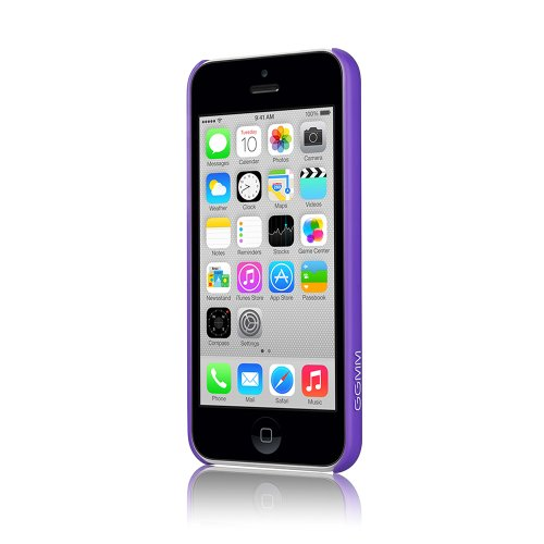 GGMM ipc00205 PC Hard Solid Color Case für Apple iPhone 5C purpur