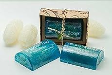 X3 Saibua Luffa Soap Thai Herbal Menthol& Honey Scrub Luffa Soap Cool Bar 100 g brand : Saibua Condition : 100% Authentic brand new, Never open Total Quantity : 1pcs. Net weight : 100g. Menthol & Honey Luffa Soap Bar 100 g. With aromatherapy ...