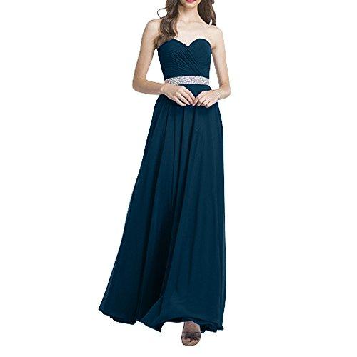 Brautmutterkleider Promkleider Formalkleider Langes Blau Neu Chiffon Abendkleider La Tinte Ballkleider Brau Festlichkleider mia zaR8W8