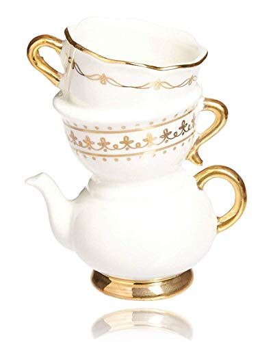 - Kate Aspen Tea Time Whimsy Ceramic Bud Vase for Tea Party Events, Take Home Gift, Party Decor, Birthday & Wedding - Set of 6