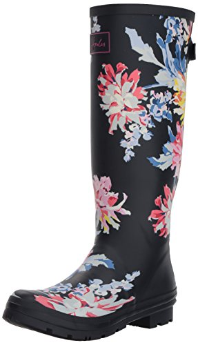 Joules Women's Wellyprint Rain Boot, Navy Whitstable Floral, 8 Medium US by Joules