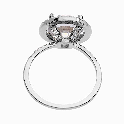 Dainty 10k White Gold 6 Carat Total Weight CZ Solitaire Engagement and Proposal Ring (Size 6.5) by CZ Engagement Rings (Image #1)