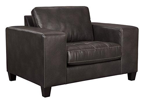 nature Design - Nokomis Contemporary Chair and a Half - Charcoal ()
