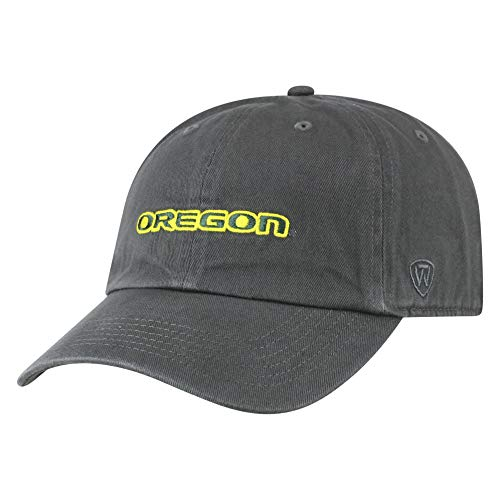 Top of the World Oregon Ducks Men's Hat Icon, Charcoal, Adjustable