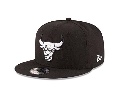 New Era NBA Chicago Bulls Men's 9Fifty Snapback Cap, One Size, Black (Chicago Bulls Snapback)