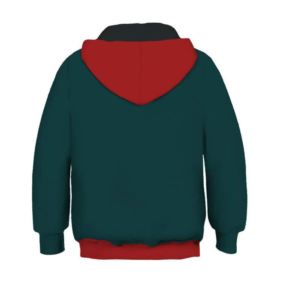 enjoyfashion Super Hero Miles Morales Hoodie Zip Up Sweatshirt Jacket Coat Halloween Costumes Unisex