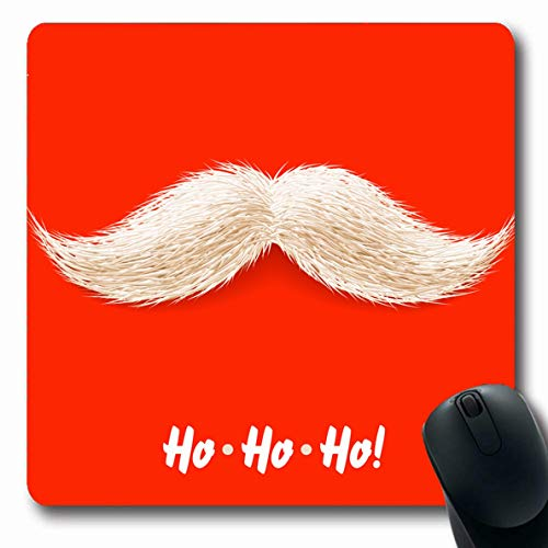 Ahawoso Mousepad Oblong 7.9x9.8 Inches Year Happy Santas Mustache Claus Shave Holiday Xmas Beard Party Design Mouse Pad Non-Slip Rubber for Notebook Laptop PC Computer]()