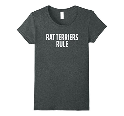 Womens Funny Rat Terrier Gift Tee Shirt Small Dark Heather