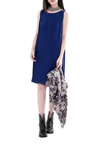 Everyday Elegance Women's Pleated Flowy Summer Dress (Medium, Navy Blue) (Sailor Outfit Ebay)