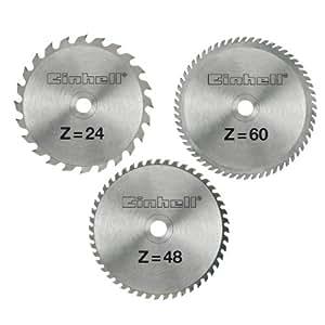 Amazon.com: Einhell Grey HM-Saw Blade Set 210 x 30 x 2.5 mm ...