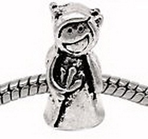 Glamorise Beads #13590 Devil Pitch Fork Evil Halloween Bead for Silver European Style Charm (Halloween Pitchfork)