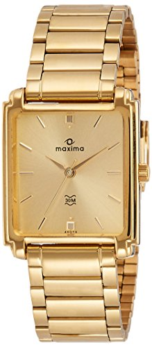Maxima Analog Gold Dial Men's Watch – 40070CMGY