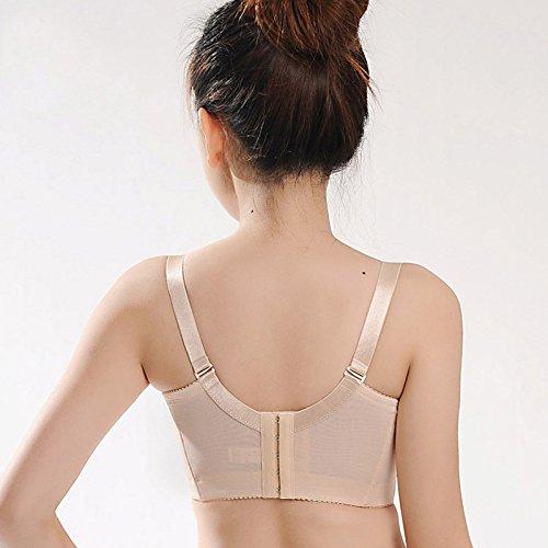 LXYFC-Sujetador ajustable sin esponja fina talla de sujetador acérquense Furu fina ropa interior femenina Copa del molde,El color de la piel,74 32